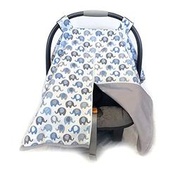Vera Elephant 100% Breathable Cotton Baby Car Seat Cover