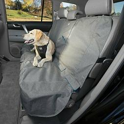 Kurgo Waterproof Car Bench Seat Cover for Dogs, Heather Char