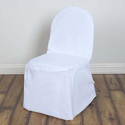 Efavormart 50pcs Round Top White Polyester Banquet Chair Cov